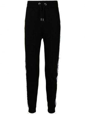 Спортивные брюки с логотипами на лампасах Alpha Industries. Цвет: черный