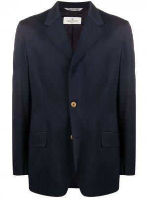 Пиджак с заостренными лацканами 1990-х годов Valentino Pre-Owned. Цвет: синий