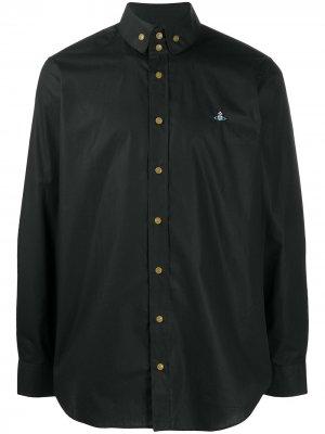 Рубашка с длинными рукавами и вышивкой Orb Vivienne Westwood. Цвет: черный
