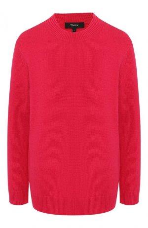 Кашемировый пуловер Theory. Цвет: фуксия