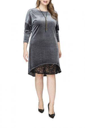 Платье La Via Estelar. Цвет: серый