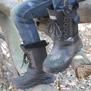 Мужской Зимние сапоги плюшевый карманом на шнурках SHEIN. Цвет: чёрный