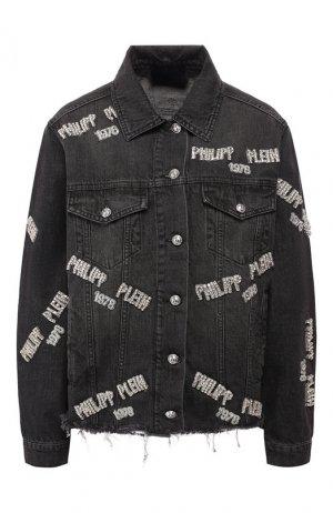 Джинсовая куртка Philipp Plein. Цвет: черный