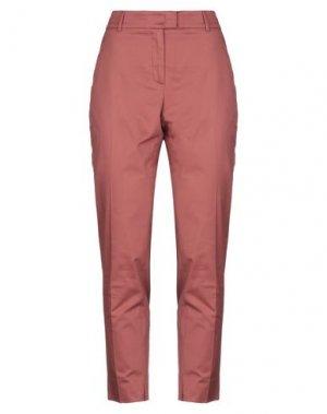 Повседневные брюки CAPPELLINI by PESERICO. Цвет: кирпично-красный