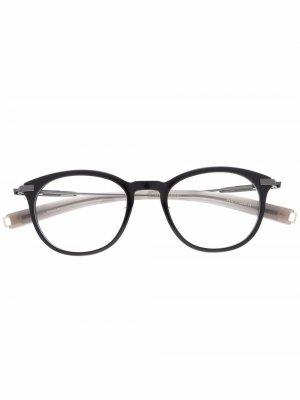 Солнцезащитные очки Lancier в круглой оправе Dita Eyewear. Цвет: черный