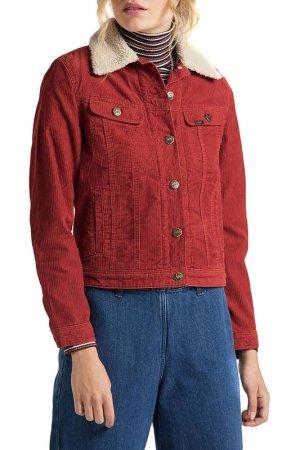 Джинсовая куртка SHERPA RIDER Lee. Цвет: красный