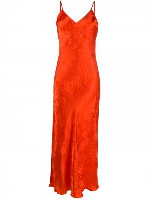 Длинное платье с цветочным узором Essentiel Antwerp. Цвет: красный