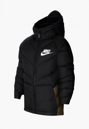 Пуховик Nike B NSW PARKA DOWN OW. Цвет: черный