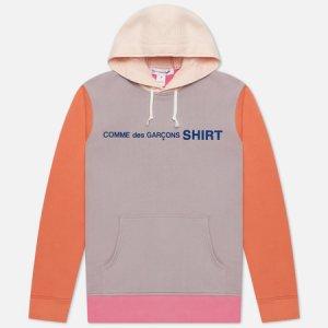Мужская толстовка Color Block Hoodie Comme des Garcons SHIRT. Цвет: розовый