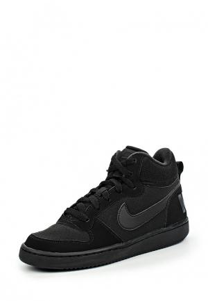 Кеды Nike Boys Court Borough Mid (GS) Shoe. Цвет: черный