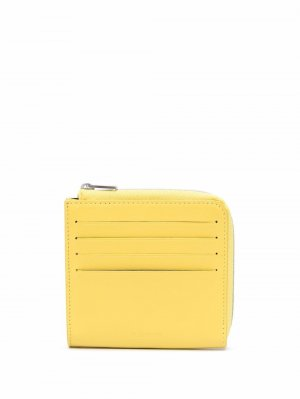 Кошелек с отделением для карт Jil Sander. Цвет: желтый