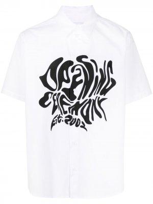 Рубашка с короткими рукавами и логотипом Opening Ceremony. Цвет: белый