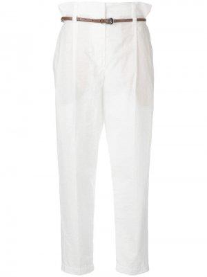 Классические брюки чинос с поясом Brunello Cucinelli. Цвет: бежевый