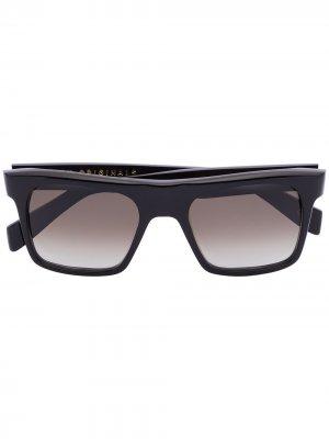 Солнцезащитные очки Stamp в квадратной оправе Kirk Originals. Цвет: черный