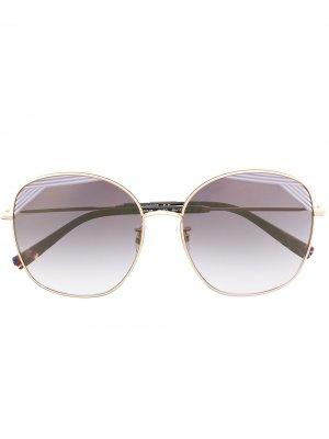 Солнцезащитные очки в массивной оправе MISSONI EYEWEAR. Цвет: черный
