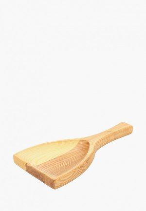 Блюдо сервировочное Svahomeart 15х30 см. Цвет: коричневый