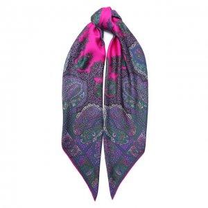 Шелковый платок Michele Binda. Цвет: фиолетовый