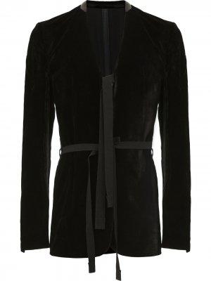 Пиджак с завязками на талии Takahiromiyashita The Soloist. Цвет: черный