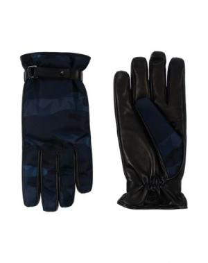 Перчатки VALENTINO GARAVANI. Цвет: темно-синий