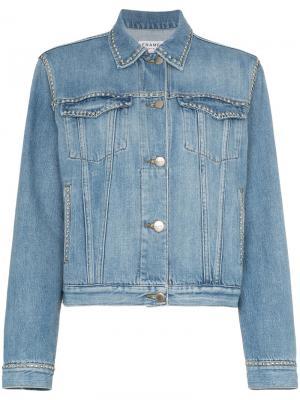 Джинсовая куртка FRAME. Цвет: синий