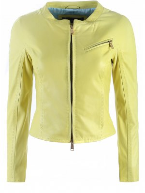 Куртка кожаная DSQUARED2. Цвет: зеленый