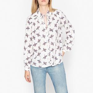 Рубашка с длинными рукавами FAUSTA BA&SH. Цвет: рисунок черный,рисунок/белый