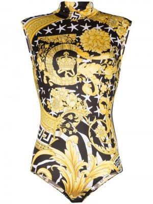 Savage Barocco sleeveless bodysuit Versace. Цвет: белый