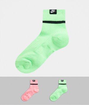 Набор из 2 пар носков до щиколотки (зеленые/ розовые) -Мульти Nike