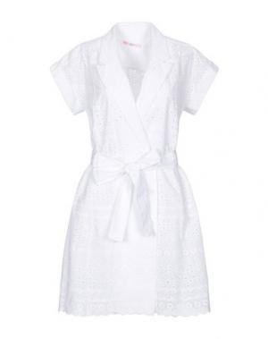 Короткое платье AGOGOA. Цвет: белый