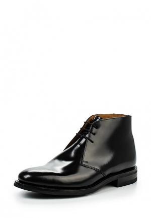 Ботинки Loake LO026AMGPJ56. Цвет: черный