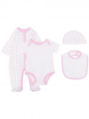 Комплект для новорожденного с узором в горох Rachel Riley. Цвет: белый