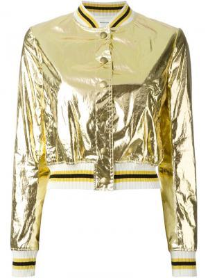 Куртка-бомбер Ferna Isabel Marant Étoile. Цвет: металлический