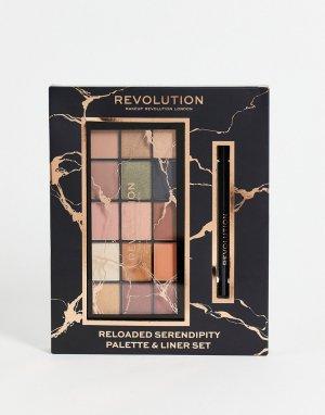 Набор из палетки теней и подводки для глаз – Reloaded Serendipity (скидка -20%)-Разноцветный Revolution