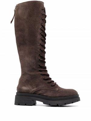 Сапоги Cite со шнуровкой P.A.R.O.S.H.. Цвет: коричневый