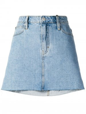 Короткая джинсовая юбка Calvin Klein Jeans. Цвет: синий