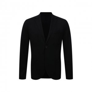 Шерстяной пиджак Harris Wharf London. Цвет: чёрный