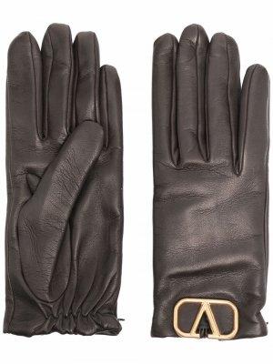 Перчатки с логотипом VLogo Signature Valentino Garavani. Цвет: коричневый