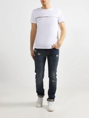Зауженные джинсы Baldessarini. Цвет: siniy