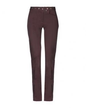Повседневные брюки PF PAOLA FRANI. Цвет: баклажанный