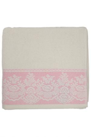 Полотенце махровое, 50х90 см BRIELLE. Цвет: кремовый, розовый