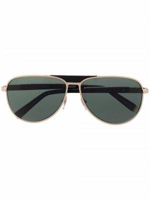 Солнцезащитные очки-авиаторы Zilli. Цвет: черный