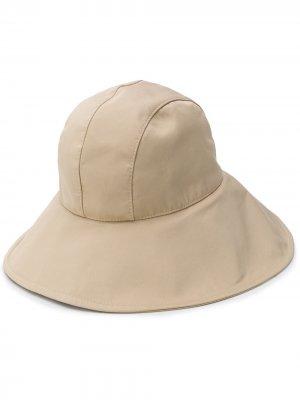 Широкополая шляпа Alberta Ferretti. Цвет: нейтральные цвета