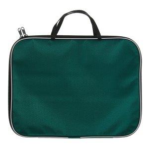 Папка с ручками текстиль а4 20 мм, 350*270 офис, нейлон 600d, двуцветный кант, зелёная Calligrata