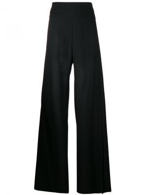 Широкие брюки с разрезами сбоку Ann Demeulemeester. Цвет: черный
