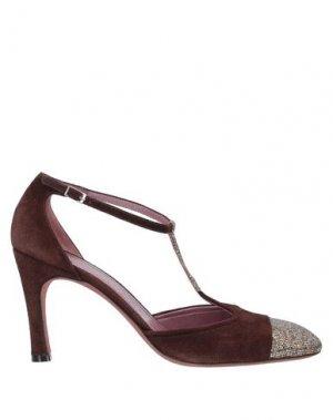 Туфли JEAN-MICHEL CAZABAT. Цвет: красно-коричневый