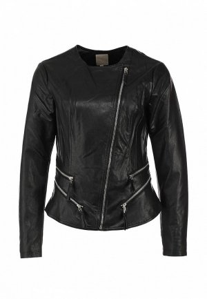 Куртка кожаная Silvian Heach SI386EWBHW37. Цвет: черный