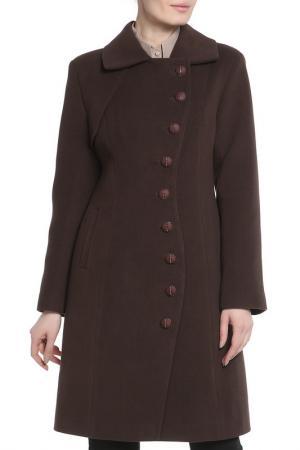 Пальто Анора. Цвет: шоколадный