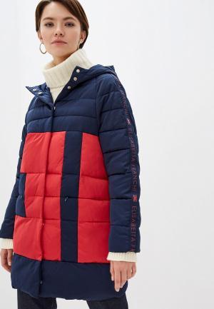 Куртка утепленная Elisabetta Franchi. Цвет: разноцветный