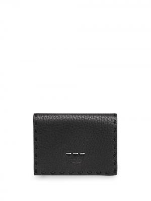 Бумажник с металлическим декором Fendi. Цвет: черный