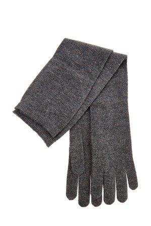Высокие перчатки с золотистым люрексом в технике плотной вязки BRUNELLO CUCINELLI. Цвет: серый